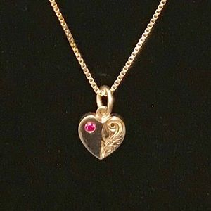 Jewelry - Sterling ruby pendant